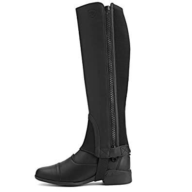 Ariat English Chaps Unisex Adult ADT Scout Leather M Black 10012739