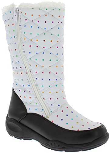 WeatherProof Girl's Patty Snow Boot, BLACK / WHITE, 1 (Weatherproof Quilted Boots compare prices)