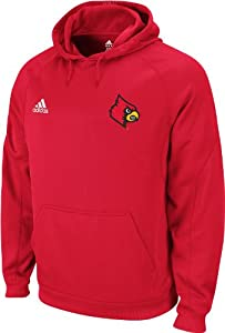 Louisville Cardinals adidas Red Sideline Pindot Pullover Hooded Sweatshirt by adidas