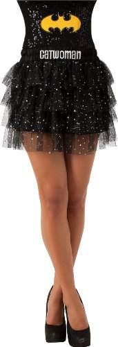 Rubie's Costume Women's Dc Comics Superhero Style Catwoman Skirt with Sequins, Multicolor, Teen