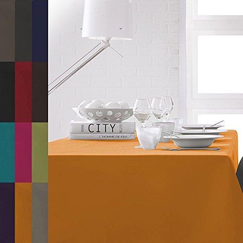 Tischdecke-140x200-oder-150x250-cm-12-verschiedene-Farben-Uni-Tischtuch-orange-140x200-cm