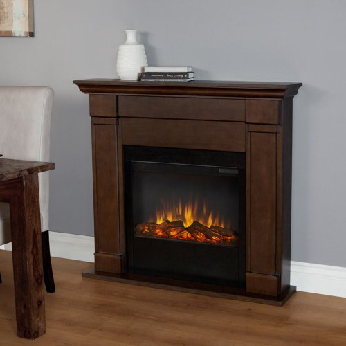 Lowry Slim Electric Fireplace Finish: Vintage Black Maple