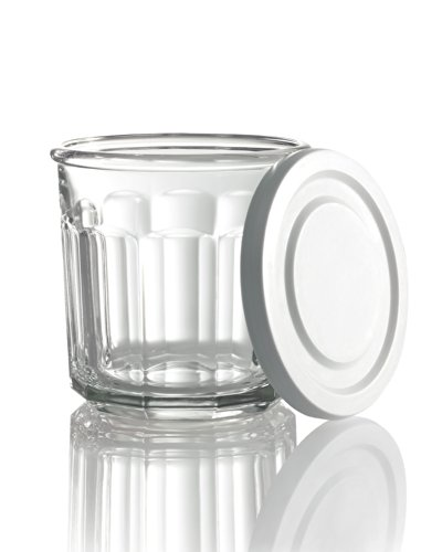 Arc International Luminarc Working Storage Jar/Dof Glass with White Lid, 14-Ounce, Set of 4 (Glass Storage Jars With Lids compare prices)