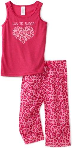Luv 2 Sleep Girls 2 Piece Tee Short pajamas Set