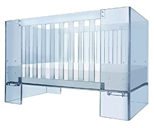 Nurseryworks Special Edition Vetro Acrylic Crib in Blue