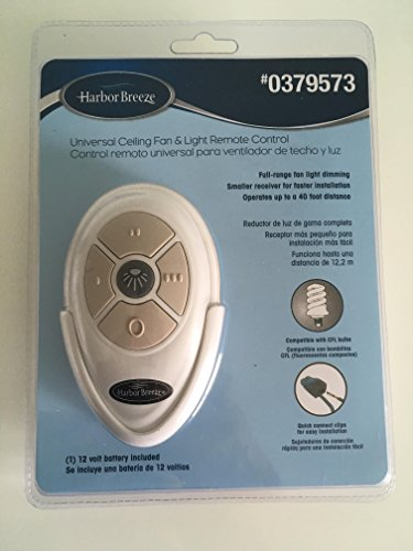 Harbor Breeze Universal Ceiling Fan & Light Remote Control (Ceiling Fan Light Nut compare prices)