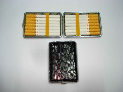 Cigarette Carrying Case Holder 14 Pack - Unique Design For King Size Cigarette (Gd-1086 , Free Nano Bio Energy Card With Your Order)