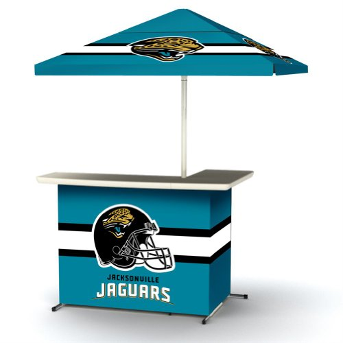 Nfl Jacksonville Jaguars Portable Wheeled Travel Bag L-Shape Umbrella Basic Bar