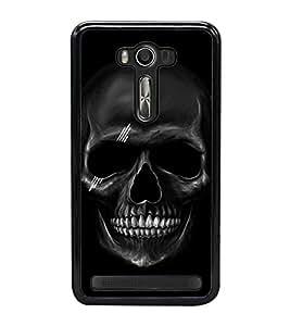 Fuson Premium 2D Back Case Cover Skull With Green Background Degined For Asus Zenfone Selfie::Asus Zenfone Selfie ZD551KL