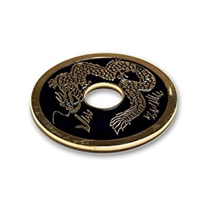 Chinese Coin (Black - Ike Dollar Size) by Royal Magic