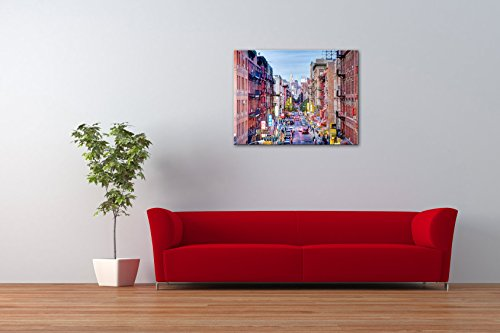 Impression gicl e sur toile en grand format china town new york city 100x - Tableau grand format contemporain ...