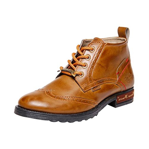 Bacca Bucci Men Harley-005 Synthetic Leather Boots
