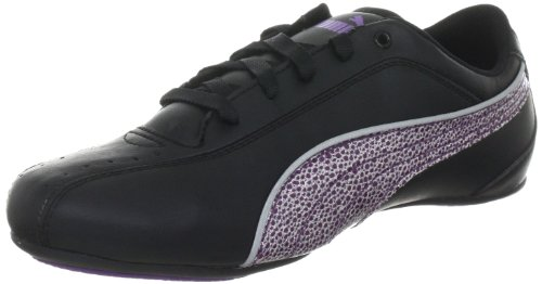 Puma Girls Tallula Glamm Jr Trainers 353012 Black-Amaran 5 UK