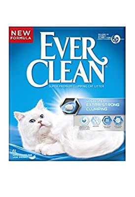 Ever Clean Extra Strong Clumping Unscented Cat Litter, 6 Litre