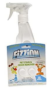 Fizzion Pet Stain & Odor Remover, 32-Ounce Bottle w/ 2-Pack Refill
