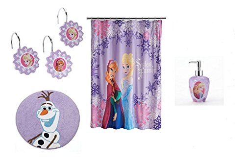 Disney frozen anna and elsa sisters forever 4 piece purple - Anna s linens bathroom accessories ...
