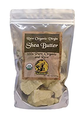 KAKOSI 100% Pure Organic Raw Virgin Shea Butter (16oz/1 Pound)