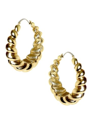Belle Noel By Kim Kardashian Rams Horn Hoop Earrings - Gold