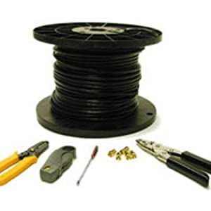 250ft RG6 Quad Shield Coaxial Cable Installation Kit-by-Cables To Go