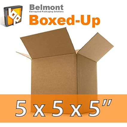 50 Small Cardboard Packing Boxes - 5x5x5""