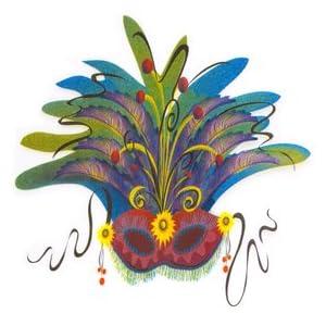 Click to buy Mardi Gras Masquerade Mask Cutoutfrom Amazon!