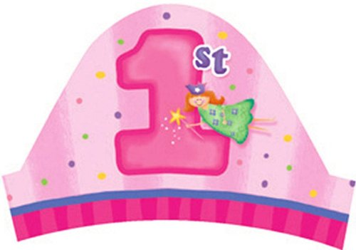 Creative Converting Fun at One Happy First Birthday Girl Party Headbands, 8 Count - 1
