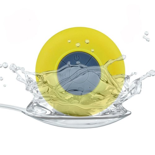 Myhome Portable Waterproof Bluetooth V3.0 + Edr Shower Speaker Handsfree Speakerphone With Suction Cup (Yellow)