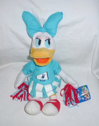 "Toy Factory Disney Daisy Duck Cheerleader Plush 12"" Tall - 1"