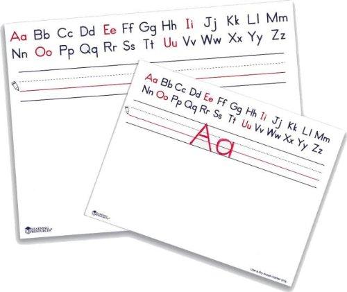 Alphabet Write & Wipe Board, 9 x 12 Dry Erase Whiteboard-Pack of 10