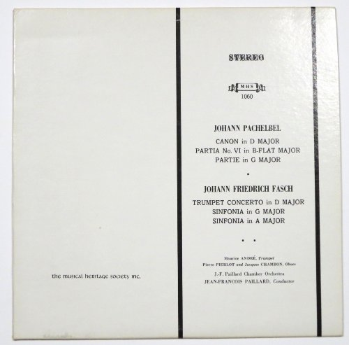 Johann Pachelbel: Canon in D Major / Partita No. VI in B-Flat Major / Partie in G Major | Johann Friedrich Fasch: Trumpet Concerto in D Major / Sinfonia in G Major / Sinfonia in A Major