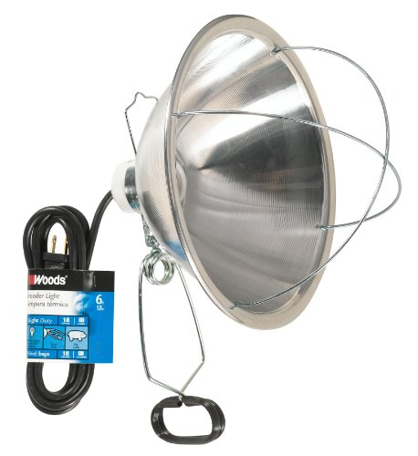 Woods 0166 18/2 SJTW Brooder Clamp Lamp w/ Bulb Guard & 10-Inch Reflector, 300-Watt, 6-Foot Cord (Brooder Heat Lamp Bulb compare prices)