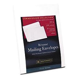 Resume Presentation Envelopes 9 X 12 25/Pack - 25% Cotton Resume Envelopes, 9 X 12, 25/Pack, White