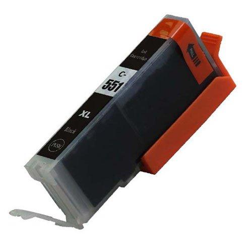 1, Schwarz, CLI 551 High Capacity Kompatible Tintenpatronen für Canon Pixma iP7250 iP8750 iX6850,,, MG5650, MG5450, MG5550, MG6350, MG6450, MG7150, MX725, MG6650, MG7550, MX925