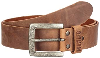 Mustang Jeans - Ceinture - Homme - Beige (Beige 231) - FR : 13/17 (Taille fabricant : 115)