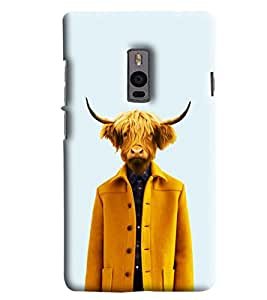 Blue Throat Man With Cow Face Printed Designer Back Cover/Case For OnePlus 2