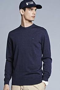 Crew Neck Nylon Trim Sweater