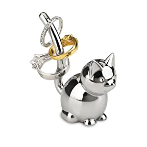 Amazon.com: Umbra Zoola Cat Ring Holder, Chrome: Home
