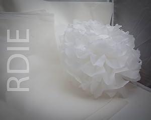 24feuilles de papier de soie Blanc, 50x75cm, 18 grs