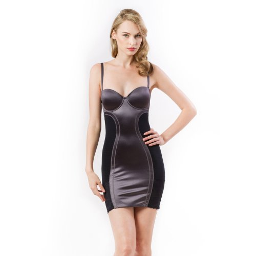 Scandale Dark Grey Shaper Slip Dress