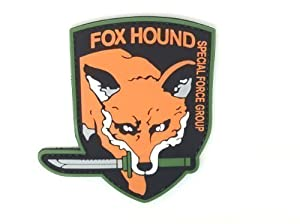 Patch Airsoft Velcro Fox Hound Special Force Group Metal Gear Solid