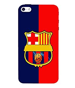 printtech Football Team Back Case Cover for Apple iPhone 5::Apple iPhone 5S