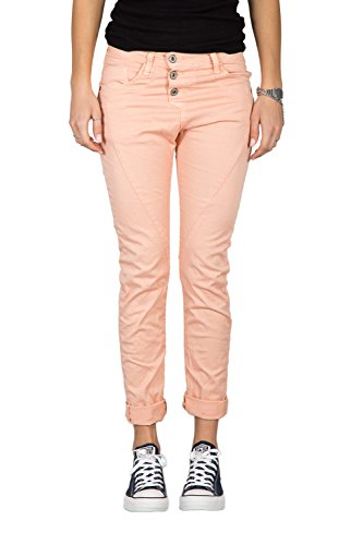PLEASE - P78a pantaloni jeans da donna baggy boyfriend color xxs rosa cipria