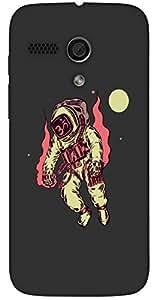 Noticeable 3D multicolor printed protective REBEL mobile back cover for MotoG(1st Gen ) - D.No-DEZ-1634-motog1