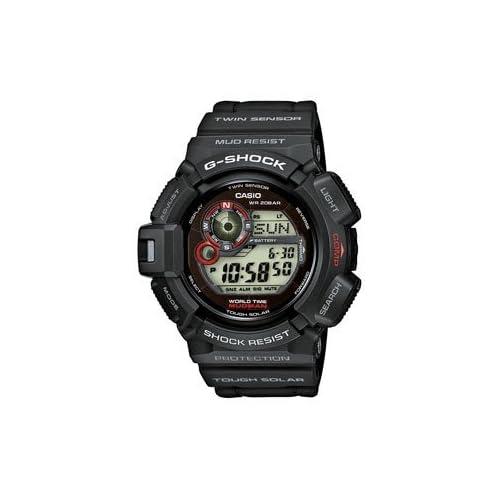Casio G-Shock Men's Mudman Solar Digital Watch G-9300-1ER with Resin Strap