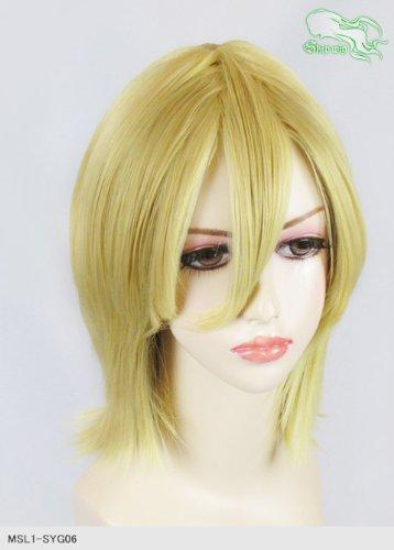 スキップウィッグ 魅せる シャープ 小顔に特化したコスプレアレンジウィッグ シャイニーミディ イエローゴールド