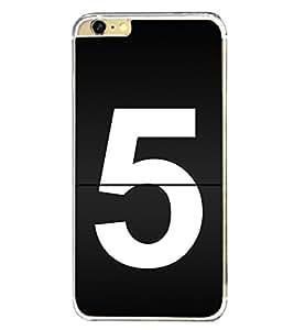 No 5 2D Hard Polycarbonate Designer Back Case Cover for Apple iPhone 6