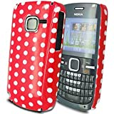 Cut Price Accessories Nokia C3-00 - Red Hard Back Polka Dot Case