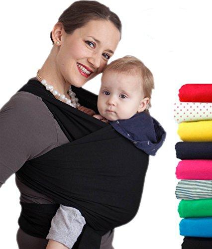 Feililong Tragetuch Babytragetuch Bauchtrage Babytrage Baby Wrap Tragehilfe Baby Carrier Sling Baby Wrap - Mit Gratisversand - Baby Carrier Sling - Tragetuch baby (schwarz)