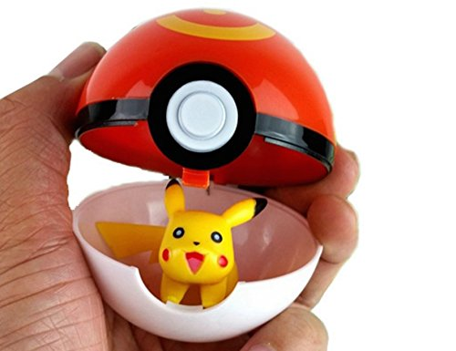 Pokemon Go PokéBall with Pikachu Mini Figure Toy Anime Action Figure