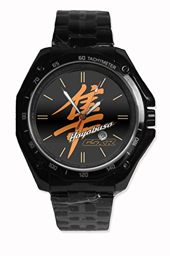 Custom Hayabusa Orange Logo Snap On Watch Stainless Steel Black Fit Your Style